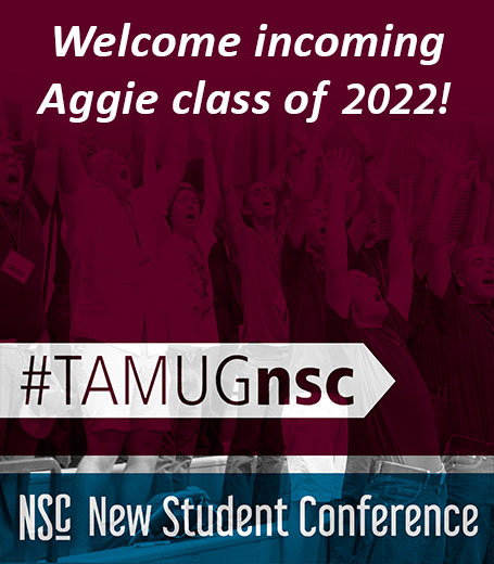 Welcome incoming Aggie Class